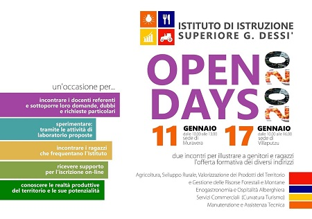 Open Day all'Istituto Dessì